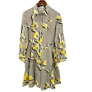 Piazza Sempione Floral Shirt Dress Italian Size 38